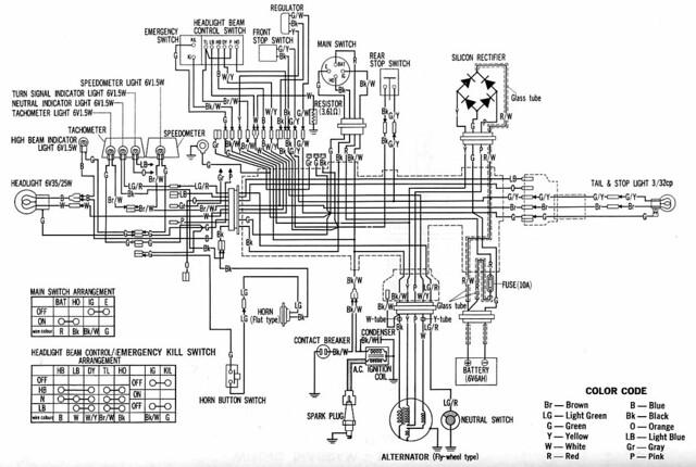 1984 honda xl250r wiring diagram