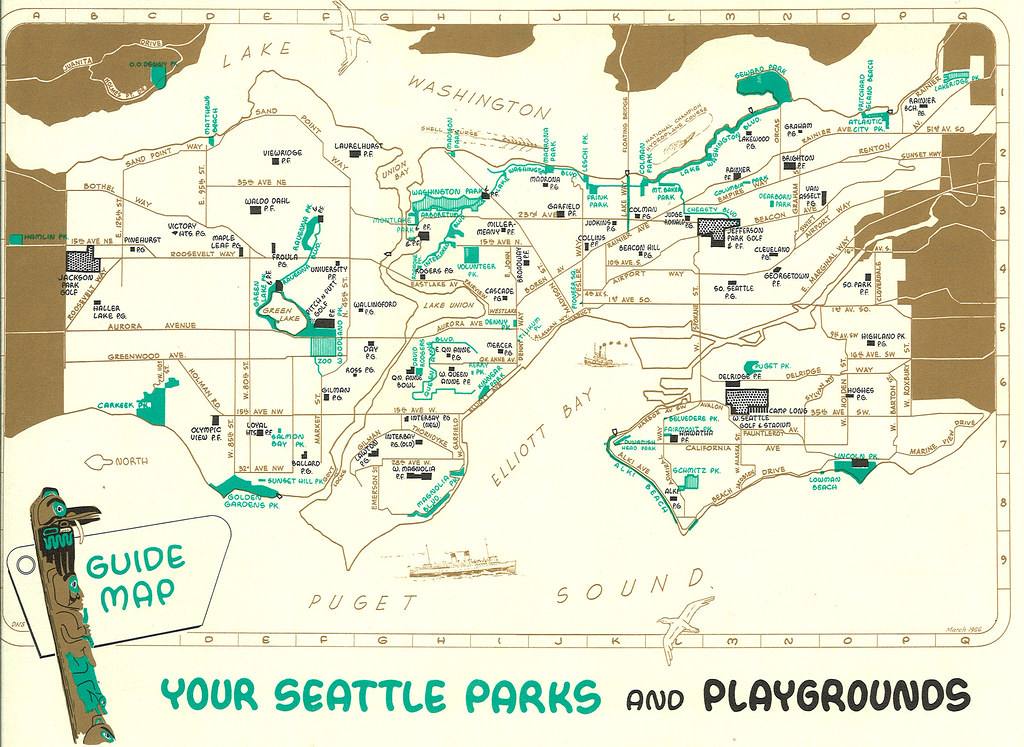 Seattle park map 1958 Click all sizes for best view Fr Flickr