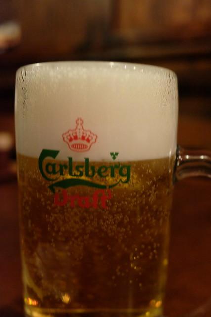 Carlsberg draft beer