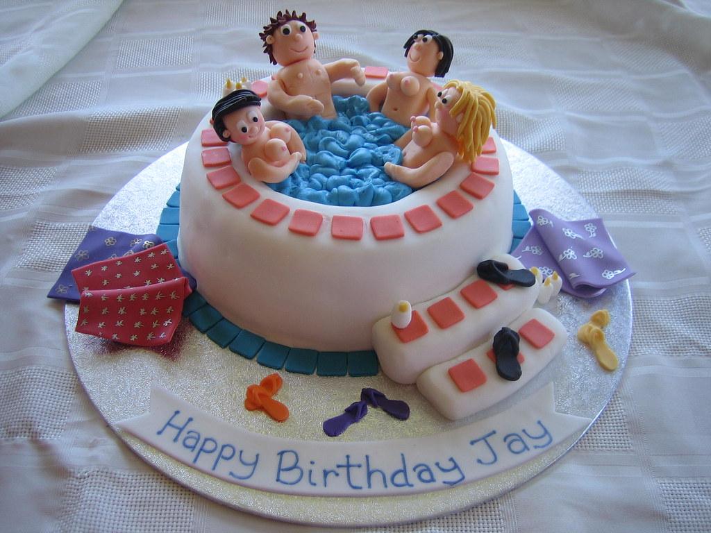 Naughty Hot Tub Birthday Cake Naughty Hot Tub Birthday Flickr