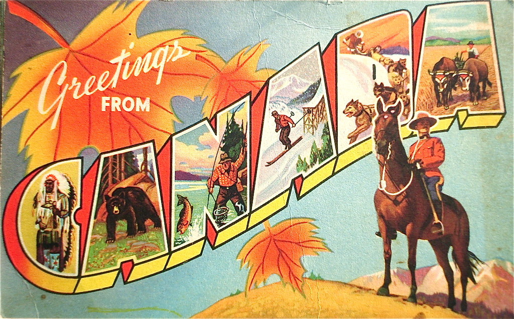 Greetings from canada postcard postmark 1957 smaddy flickr greetings from canada postcard by smaddy m4hsunfo