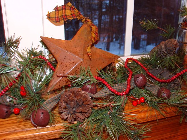 amazing kitchen christmas garland | Christmas Garland in My Kitchen Window | A Cottage ...