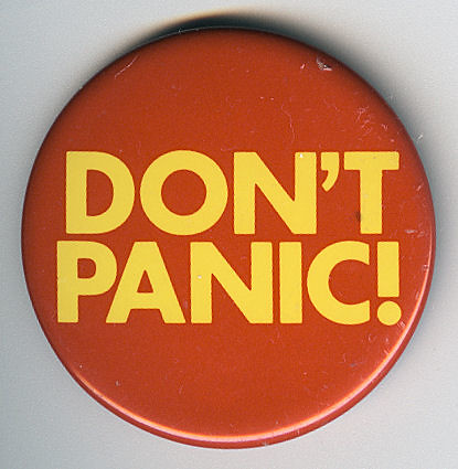 Don't Panic Badge | by Jim Linwood