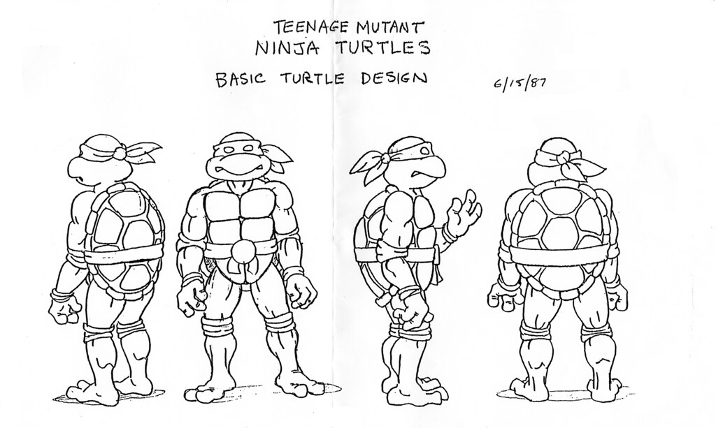 ninja turtles coloring pages characters - photo#28
