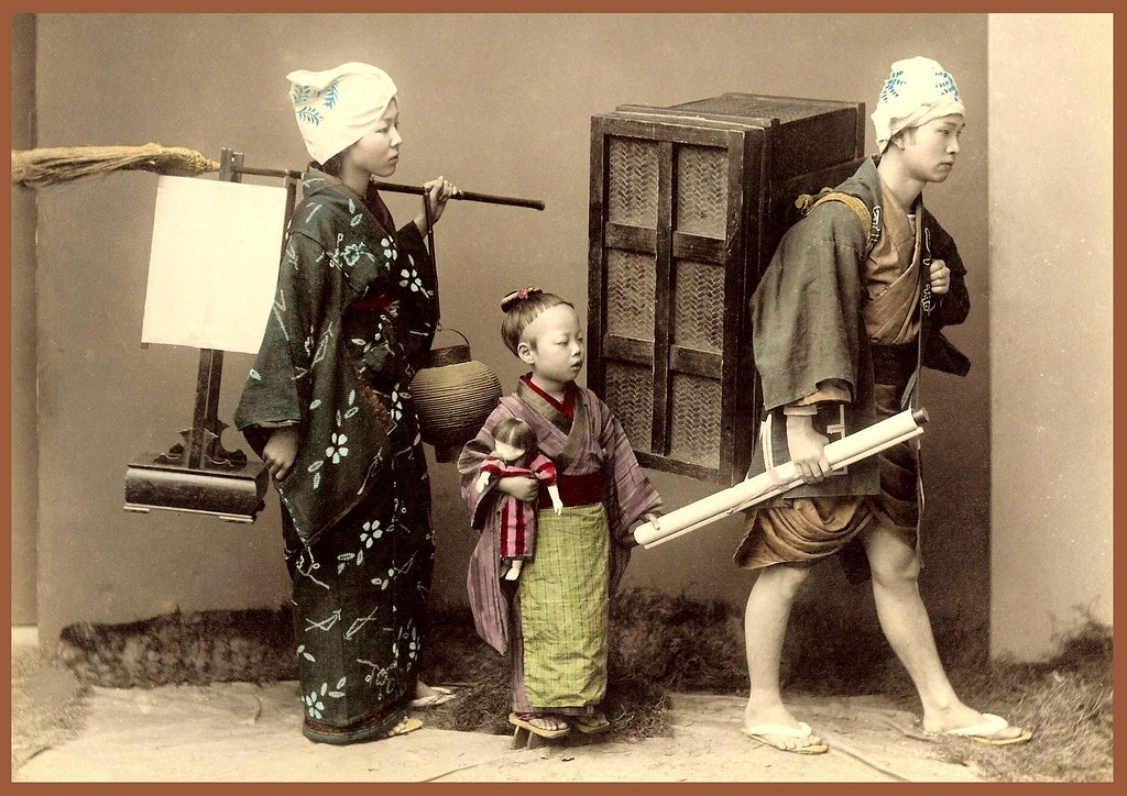 MOVING DAY -- A Domestic Scene in Old Japan | A nice 1880s ...