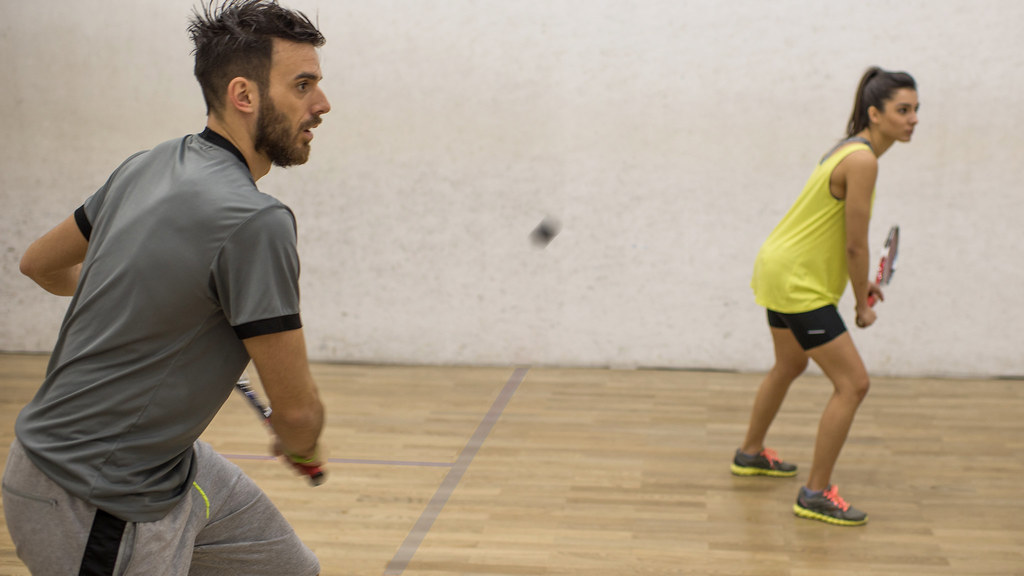 Students playing squash