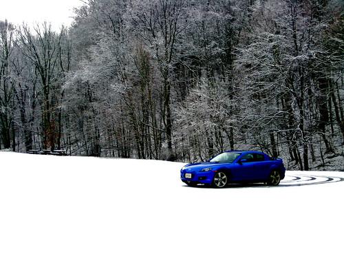 Mazda Millenia White Snow Milly Logbook: My Mazda RX-8 In The Parking