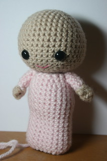 Big Head Baby in infant gown | by *mia*