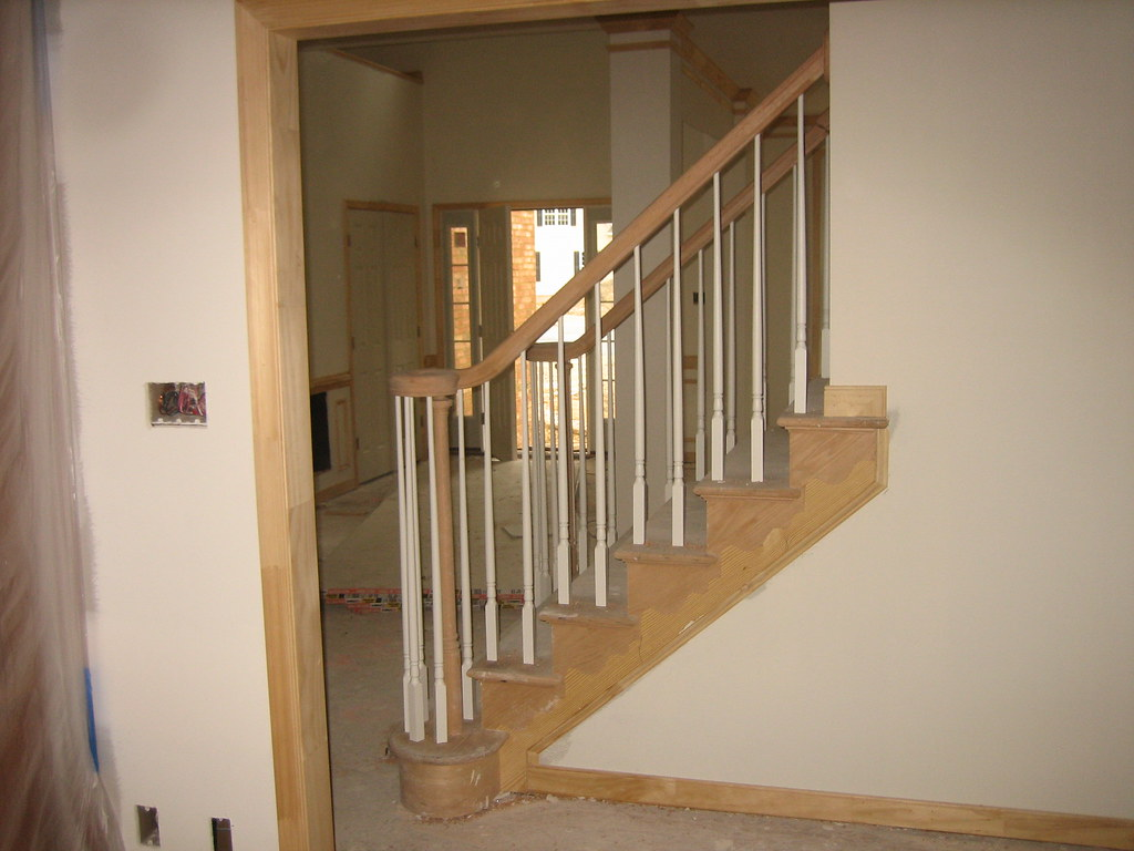 ... Stair Railing With Left Hand Volute And Right Hand Volute | By The  Finishing Company Richmond