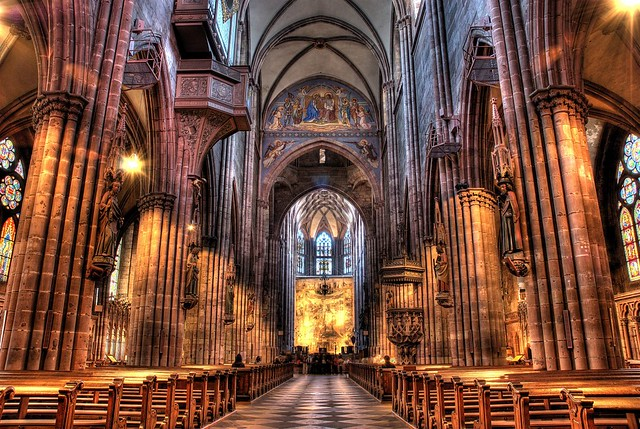 freiburg m nster hdr the beautiful church in the middle. Black Bedroom Furniture Sets. Home Design Ideas