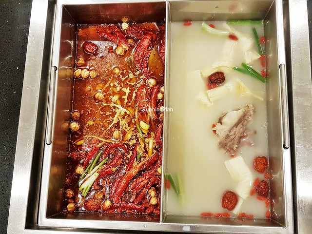 Soup Base - Sichuan Style Mala Seaweed Soup With Bean Sprouts, Shark's Bone Cartilage Soup With Fresh Beancurd Sheets
