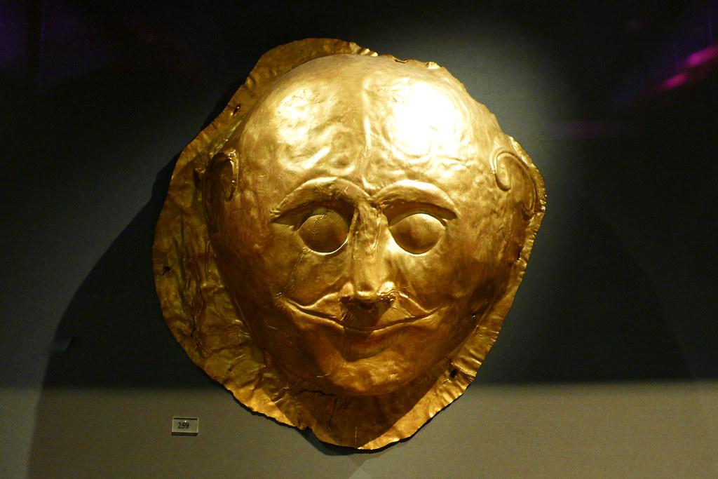Mycenae Smirky Funeral Mask Shaft Grave Iv Grave Circle Flickr