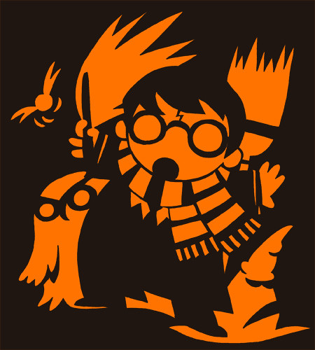 harry potter pumpkin carving templates - harry potter pumpkin design this was my design for one