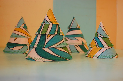 handmade fabric trees | by camera shy momma