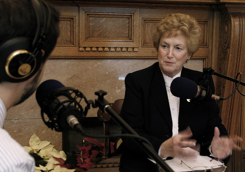 Governor M. Jodi Rell with John Dankosky | by WNPR - Connecticut Public Radio