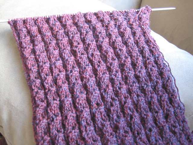 Knitting Pattern For Waterfall Scarf : photo