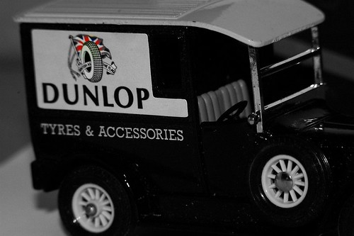 Dunlop test vehicles vintage