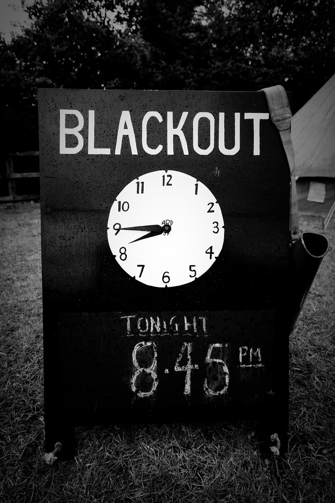 Blackout Blackout Sign Taken At The 1940 S Day Hosted