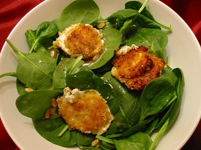 fried goat cheese salads the fried goat cheese and goat cheese salad ...
