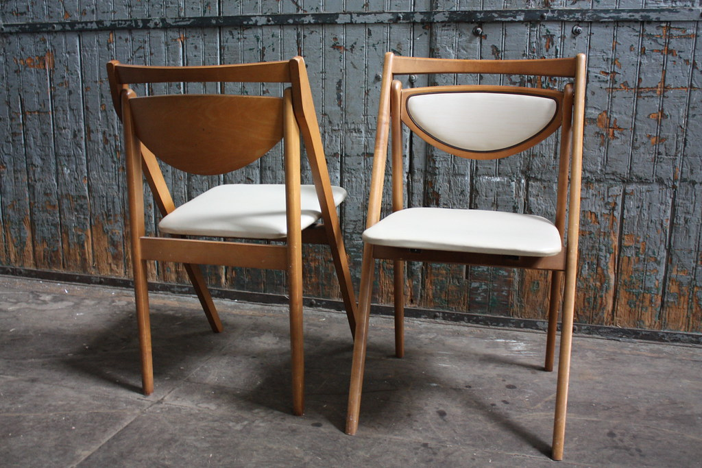 Charming ... Vintage Mid Century Stakmore Folding Chairs | By Kennyk@k2modern.com