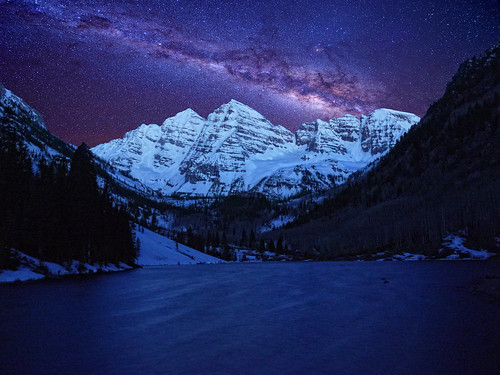 Maroon Bells Under the Starry Sky | by soldier68w