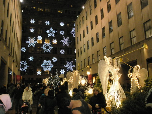 Snowflakes Across the Street From Rockefeller Center | by rustinpc
