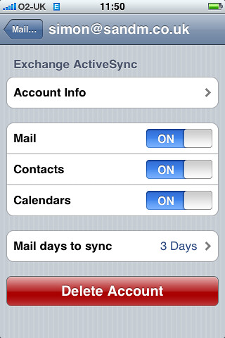 iphone exchange setup iphone 2 0 screenshot activesync settings iphone 2 0 11827