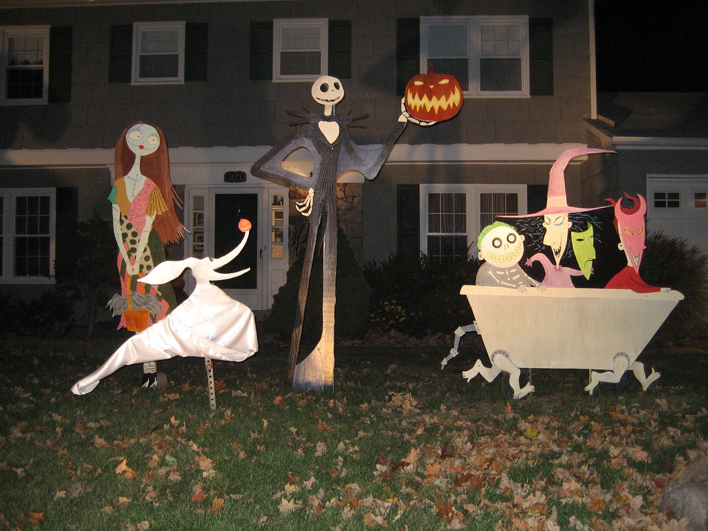 the nightmare before christmas lawn decorations 07 night by bradyurk