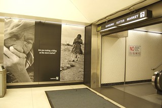 Save Darfur in Montgomery Bart Station | by Steve Rhodes