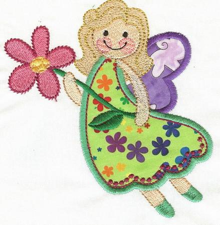 Applique Fairy Embroidery Designs