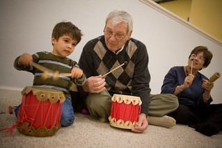 drumming with grandparents | by jetrotz