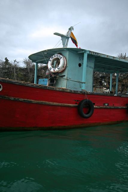 Red fishing boat santa cruz island galapagos explore for Santa cruz fishing