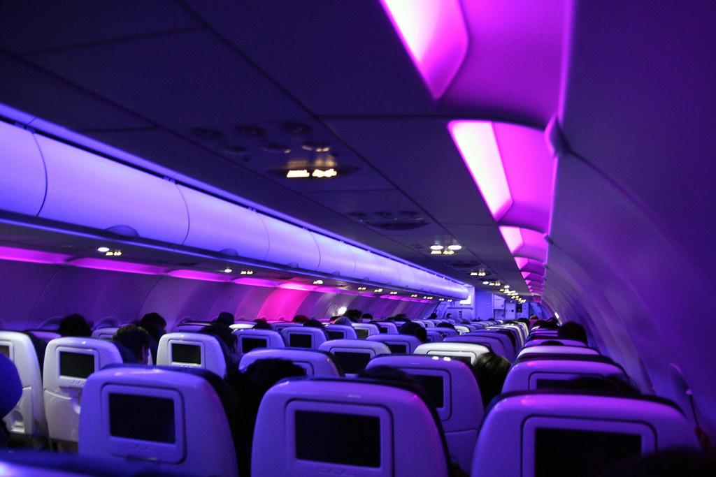 A319 Virgin America Interior Of A319 Virgin America With
