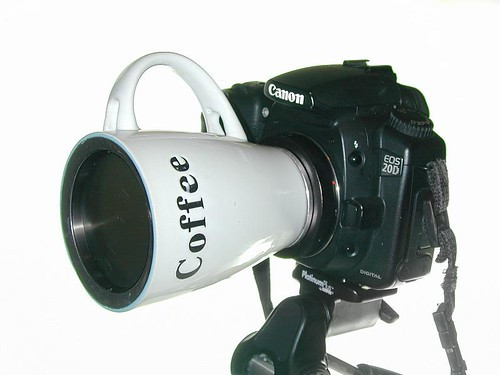 Coffee cup pinhole lens | by paradefotos