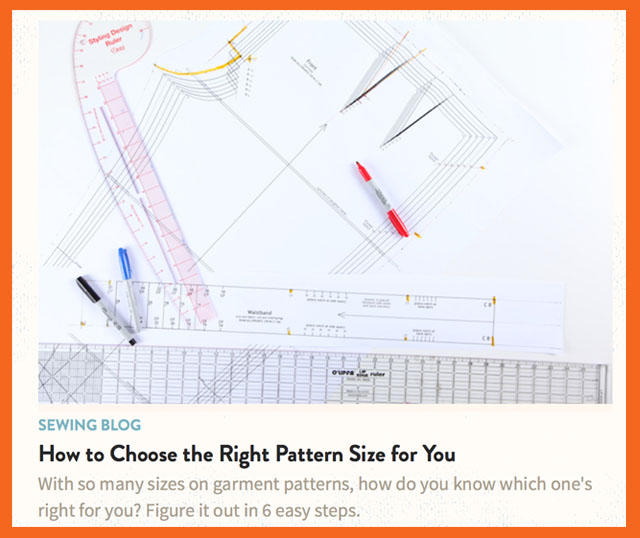choose right pattern size