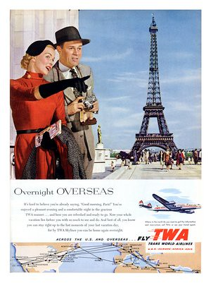 twa air travel paris 1950s | by nostalgicphotosandprints