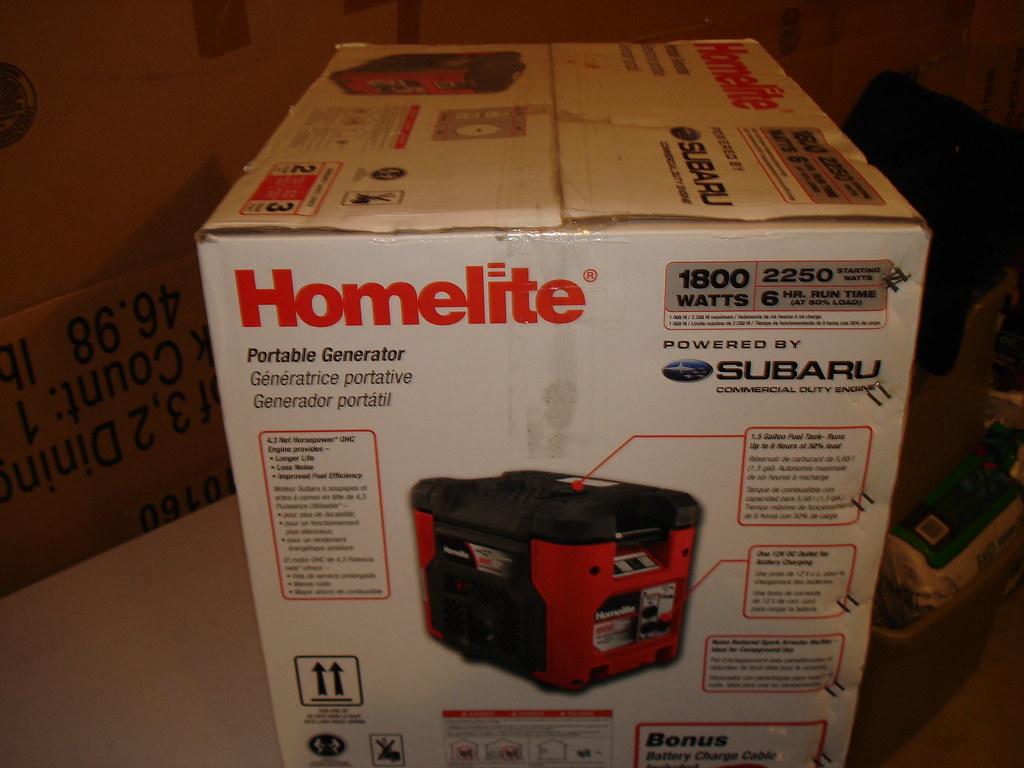 Brand New 110 Off Homelite 1800 Watt Gasoline Powered P