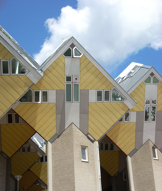 Cube houses in rotterdam les fameuses maisons cubes de - Maison d architecte cube houses rotterdam ...