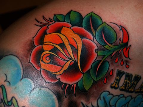 American / Traditional Tattoos | American / American ... American Traditional Yellow Rose Tattoo