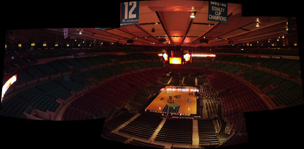 Madison Square Garden Ny A Panoramic View Of The