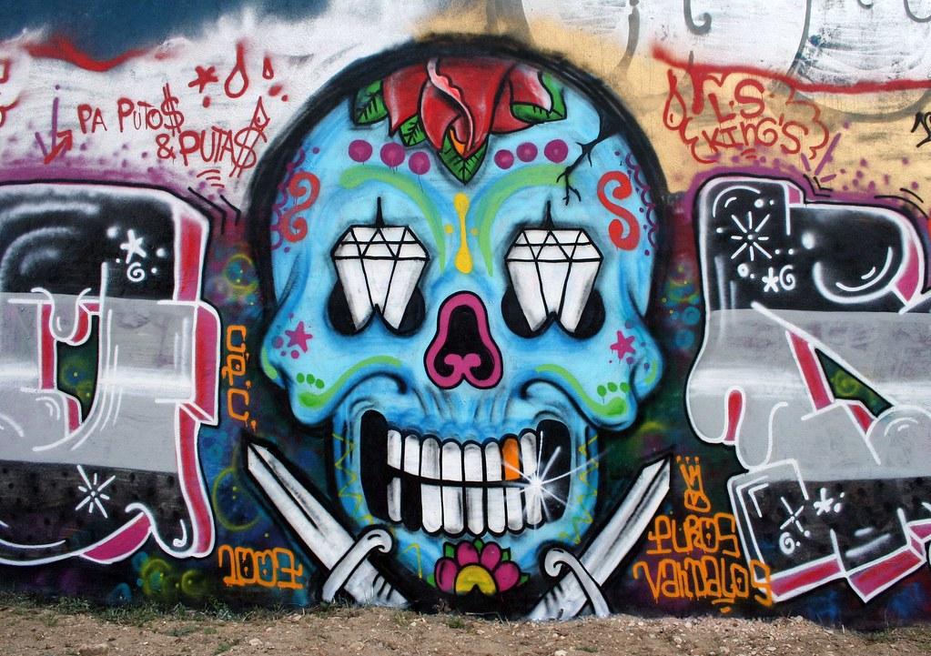 Brilliant Graffiti Skull Mexican Style in Amoreiras Hall o. Flickr