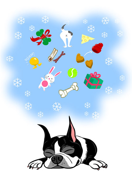 a boston terrier christmas by lilichin