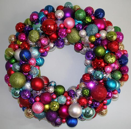 Christmas Ball Wreath I Dont Even Know How Many