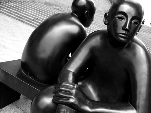 Canary Wharf - Two Men on a Bench | by nwhitford
