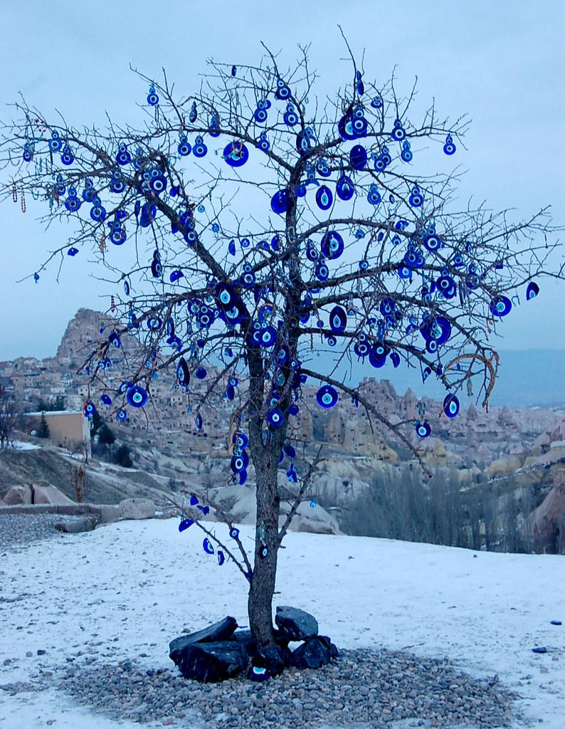 evil eye tree in cappadocia turkey curious