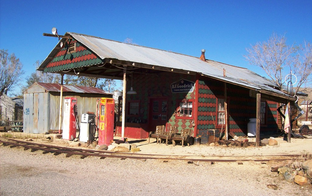 Colorful Building Near Downtown Chloride Arizona With A