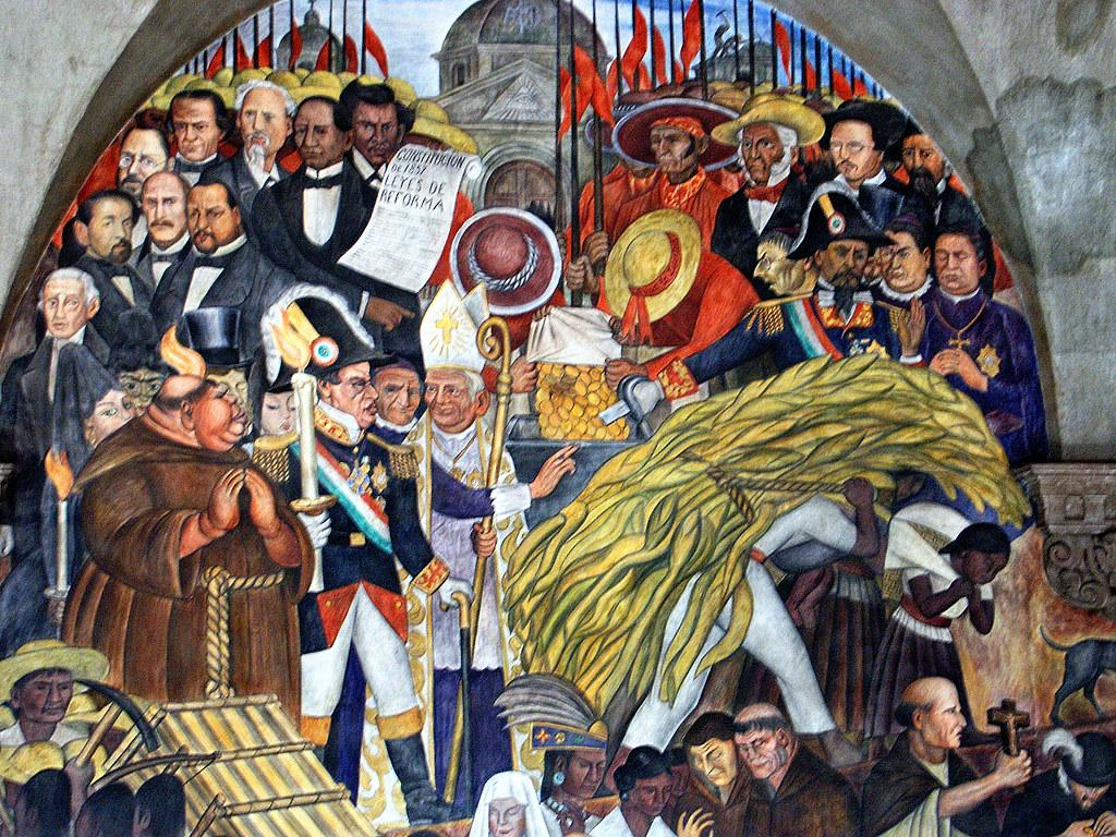 Mexico distrito federal palacio nacional murales de die for Muralisme mexicain