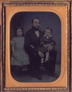 Father with Two Children | by 19th Century Photographic Images