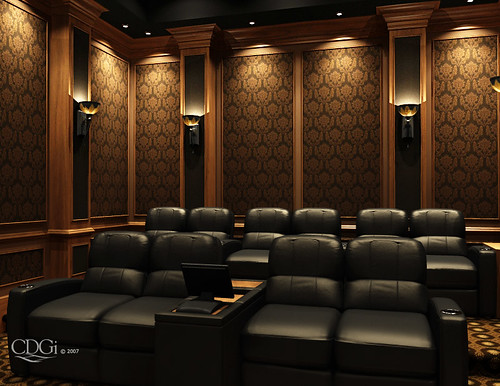 theater design by cinema design group - Home Theater Design