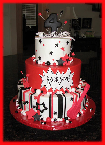 Justin S Rock And Roll Cake I Made This Cake For A